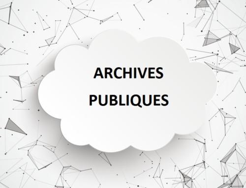 Les archives publiques dans le nuage